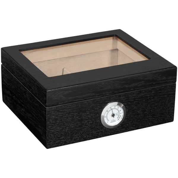 Humidor Glass Top Color Black 40 Count