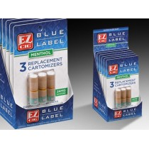 EZ CIG BLUE LABEL REPLACEMENT CARTOMIZER - 3-PK