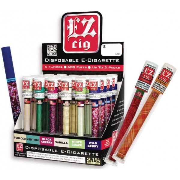 EZ CIG DISPOSABLE ELECTRONIC CIGARETTE (Min Order 2)