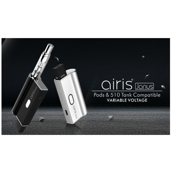 Airis Janus vape 2in1 Pods & 510 Thread 650mah Battery Fit Pod and Thick Oil Cartridge